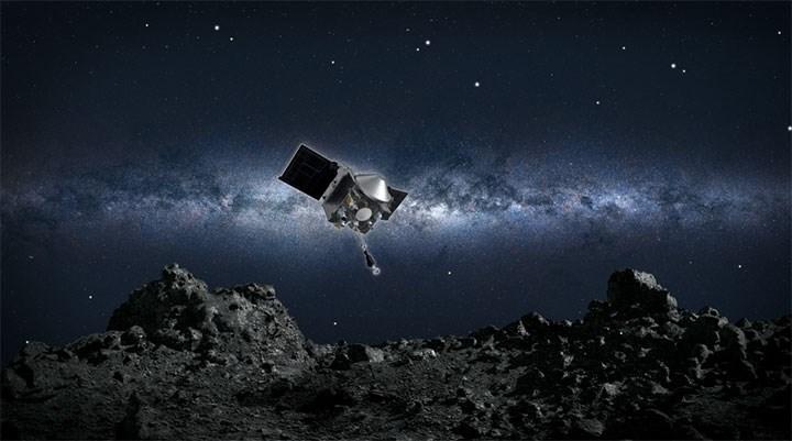 Bennu asteroidinden moloz toplayan NASA aracının 2 yıllık dönüş yolculuğu başladı