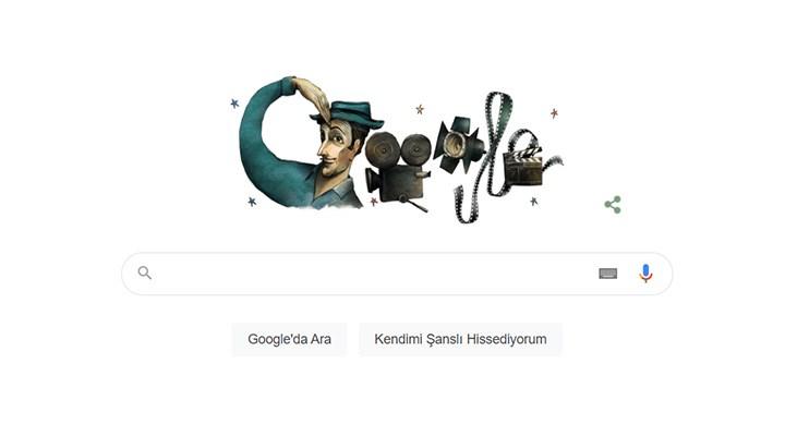 Google'dan Sadri Alışık için doodle